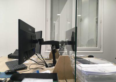 séparations bureaux en verre