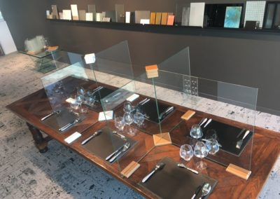 séparation verre restaurant